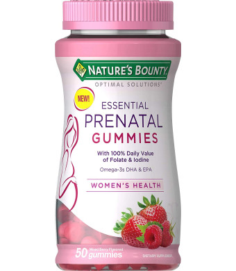 Nature's Bounty Optimal Solutions Essential Prenatal Gummies, 50 Count