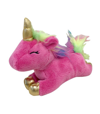 FOUFIT 85601 Unicorn Plush Toy for Dogs, Pink, 6""
