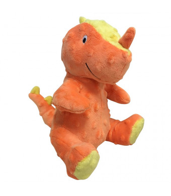 FOUFIT 85606 Dino Plush Toy for Dogs, Large, Orange, 9""
