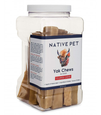 Native Pet Yak Chews for Dogs Pasture-Raised Himalayan Yak Chews for All Dogs  Protein-Rich Reward Treat for Improved Oral Health