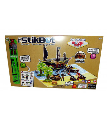 #Stikbot Movie Set Posable Figure with Cutout Set and Accessories (Pirate Set)