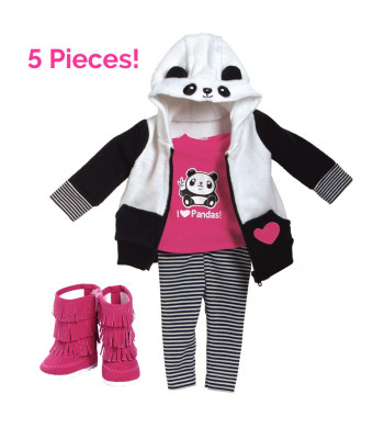 "Adora Amazing Girls 18"" Doll Clothes ""Panda Fun"" (Amazon Exclusive)"