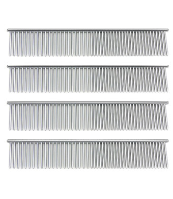 Budd Comb Pet Stainless Steel Grooming Tool Professional Brushes Comb for Dog and Cat (Silver)