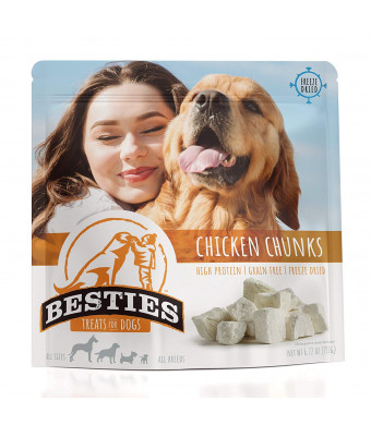 BESTIES Freeze Dried Dog Treats | Value Size | Grain Free | Human Grade  | All Natural | 1-2 Ingredient