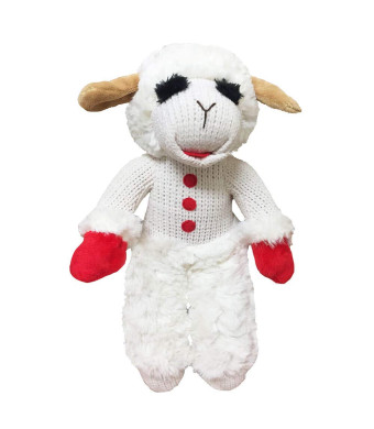 "Multipet Lambchop Standing Plush Dog Toy 13"" with Squeaker"