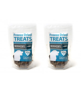 Project Paws Minnows Freeze Dried Treats for Dogs and Cats 2 Pack