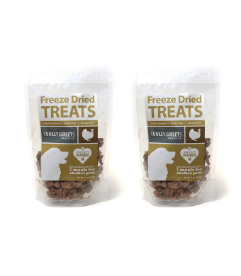 Project Paws Turkey Giblets Freeze Dried Treats for Dogs and Cats 2 Pack