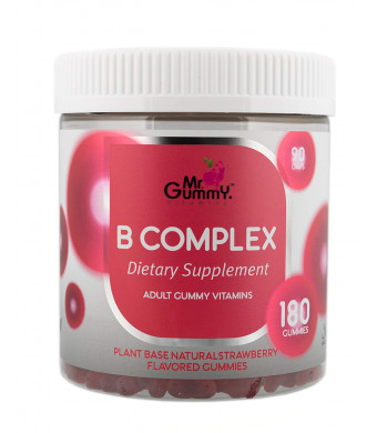 Mr Gummy Vitamins B Complex Supplement | Vitamin B3, B5, B6, B12 and C | Supports Heart and Nervous System Health | [90-Day Supply] | for Men and Women