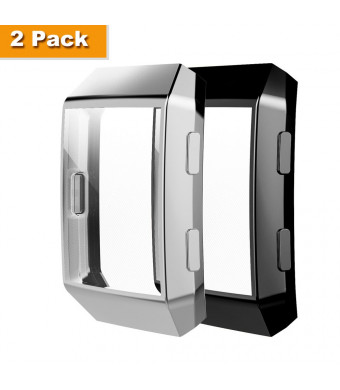 Belyoung Fitbit Ionic Case, TPU All-Around Full Front Screen Protective Case for Fitbit Ionic Smart Watch 2pcs