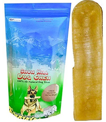 Snow Hill Dog Chews Size XL 6.35 oz Himalayan Yak Milk Cheese Natural Long Lasting Treats improved Oral Health Good for Crazy Chewer above 50 lbs
