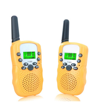 ANCICO Walkie Talkies for Kids, 22 Channel Two Way Radio 3 Miles (Up to 5Miles) Walkies Talkies , Long Range Wireless Handheld Mini Outdoor Camping Toys for Boys Girls( 1 Pair ) Yellow