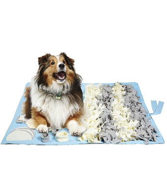 Petvins Dog Feeding Mat Snuffle Nose Work Training Foraging Mat Pet Activity Blanket Slow Feeder Bowl Stress Release Pad