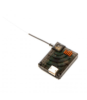 """Spektrum DSMX Remote RC Receiver with 2-Way Positionable Antenna and 24"""", Extension, Black"""