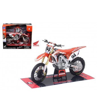 "NEW 1:12 NEW RAY MOTORCYCLES COLLECTION - Honda CRF450R ""Ken Roczen #94"" HRC Team Honda Race Bike Model Car By NEW RAY TOYS"