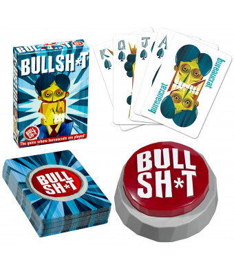 Official BS Button Game (60 Sounds Plus Bullshit Playing Cards)