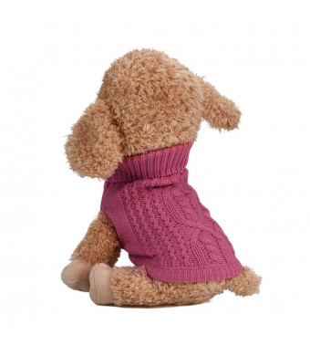 Pet Dog Clothes Dog Sweater Soft Thickening Warm Pup Dogs Shirt Winter Puppy Sweater Dogs