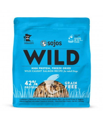 Sojos Wild Natural Freeze-Dried Raw and Dehydrated High Protein Dog Food
