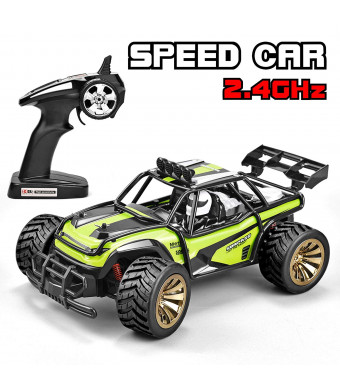 Jujuism Electric Race Remote Control 1:16 Scale Monster Truck 2.4GHz Radio 2WD High Speed Racing Off Road Vehicle Desert Buggy Crawler Hobby RC Car Toy Gift