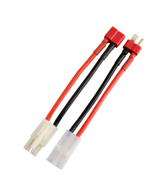 Gens ace Tamiya Connector to Deans T Style Plug Cable for RC Speed Controller ESC Battery