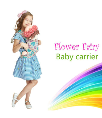 Angel Shine Flower Fairy Baby Doll Carrier (Purple Flower)