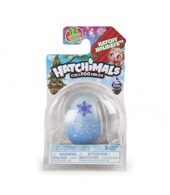 Hatchimals CollEGGtibles, Hatchy Holidays 1-Pack + Nest, (Styles May Vary)