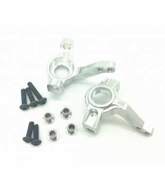 Treal Aluminum Front Steering Knuckles for Axial SCX10 1:10th Rc Car Silver