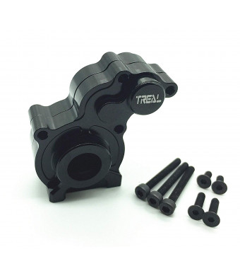 Treal Aluminum Center Gear Box Mount for Axial SCX10 Electric 4WD RC 1:10 Model Car Black