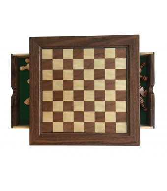 Milo6 New! Complete All You Need Chess Set, Magnetized Wood Chess Set, Wood Chessmen, Includes Basic Chess Rules