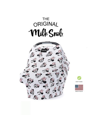 "DISNEY COLLECTION The Original Milk Snob Infant Car Seat Cover and Nursing Cover Multi-Use 360 Coverage Breathable Stretchy ""Minnie Mouse"""