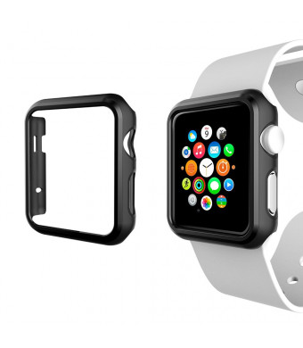 Muovst Apple Watch 1 Case 42mm Ultra Slim Flexible Lightweight Shock-proof iWatch Case Protective Cover (Include 1 Screen Protectors) for Apple Watch Series 1 (42mm)