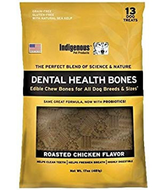 Indigenous - Dental Bone Chew Roasted Chicken Flavor, 17Oz
