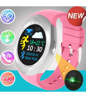 Smart Watch with Bluetooth for Men Women Sport Fitness Tracker with Heart Rate Monitor Blood Pressure Step Counter Pedometer Monitor Cycling Bracelet Touch Screen Smartwatch Birthday Gifts