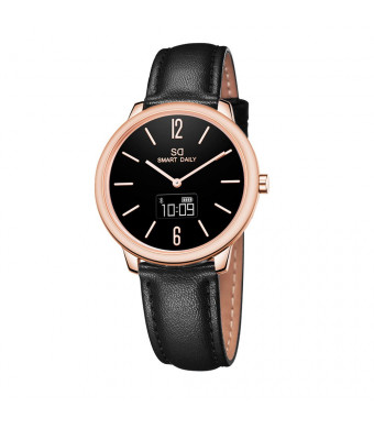 DSMART X1 Hybrid Quartz Smartwatch for Girls Ladies and Women, with Japan Quartz Movement/Touch Screen / 30m Waterproof/Pedometer / Distance/Calories/ Bluetooth Compatible iOS and Android