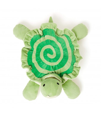 Pajama Pets Topsy Turvy Turtle: Educational Toys with Pocket for Kids Learning Chores, Green Soft Plush Stuffed Animals