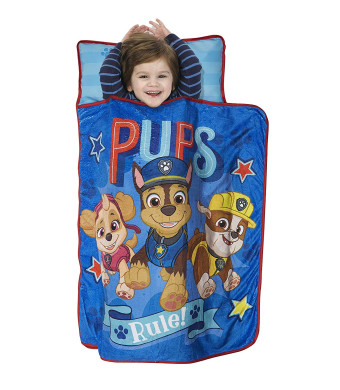 Paw Patrol We're A Team Toddler Nap Mat - Includes Pillow and Fleece Blanket  Great for Boys and Girls Napping at Daycare, Preschool, Or Kindergarten - Fits Sleeping Toddlers and Young Children