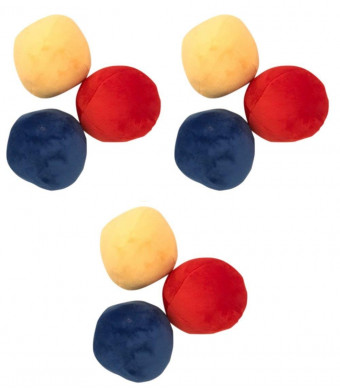 9 Pack BIG Plush Soft Squeaky Balls for LARGE Dogs