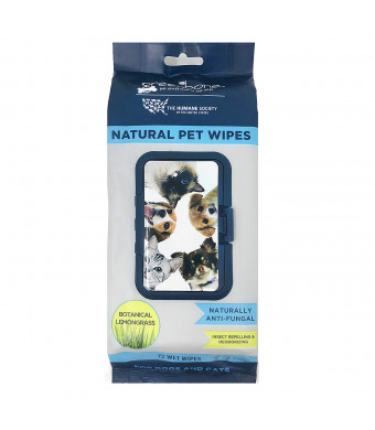 Humane Society All Natural Pet Grooming Wipes - 72 Count