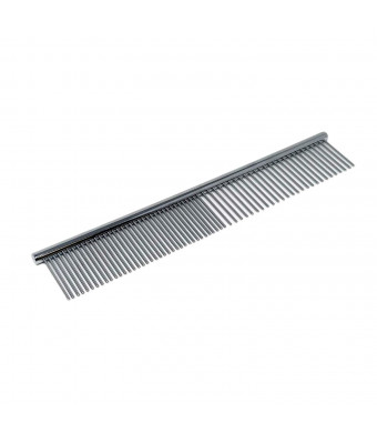 """Snuggly Paws Metal Dog Grooming Comb - 7 1/2"""" Stainless Steel - Cats and Other Pets"""