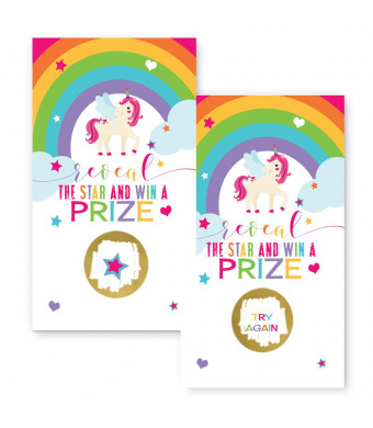 Unicorn Scratch Off Party Game Card Set of 28