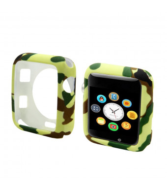 WINTOFW for Apple Watch Case 38mm Soft TPU Plated Protector Bumper Shield IWatch Ultra-Thin Cover for Apple Watch Series 3 Series 2 Series 1 Nike+ Sport Edition Green