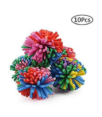 """Stock Show 10PCS 1.6"""" Funny Colorful EVA Flower Ball Foam Cat Toy Ball Cat Kitten Catch/Chase/Play Ball, Random Color"""
