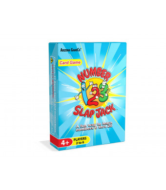 Number Slap Jack - a Fun Number Recognition and Counting Card Game  Kids Learn Number 0-20 While Playing a Fun Card Game - Perfect for Preschool and Kindergarten Learners, Ages 4 to 7