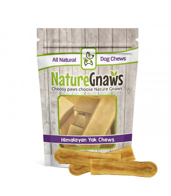 Nature Gnaws Himalayan Yak Chews - 100% Natural Premium Dog Chew Treats