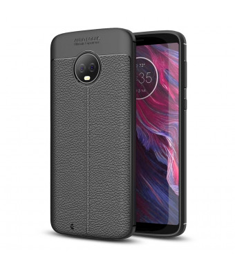 Moto G6 Case, Taorey Ultra Thin and Slim - Shockproof Drop Protection - Anti Slip and Scratch - TPU Leather TexturedScratch-Resistant for Motolola Moto G6 2018 (Black)