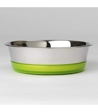"""PetRageous 15008 6.5 Cups Maui Stainless Steel Bowl, 8.28"""" x 2.5"""""""