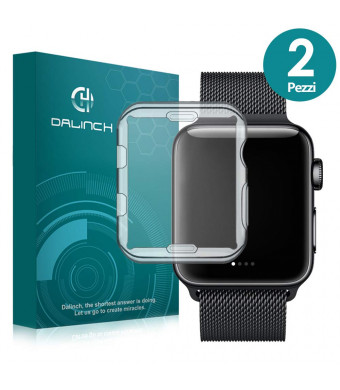 Dalinch Compatible with iWatch 42mm Screen Protetcor,(2Pack) TPU Full Screen Protective Case/Screen Protector for iWatch 42mm Series 3 Series 2 Series1 Herms/Nike+ Edition