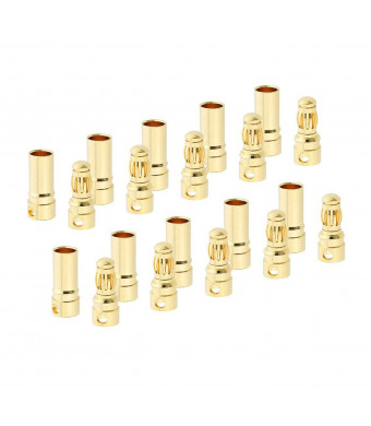 Karcy 3.5mm 10 Pairs Gold Plated Male and Female Bullet Banana Plug Connector Set (3.5mm)