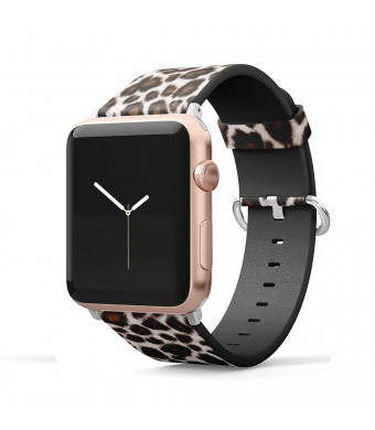 Leather Band Compatible for iWatch 38mm 40mm Strap Pattern Printed Replacement Wristband for Apple Watch Band Smartwatch Series 4 3 2 1 Version (Leopard, 38mm/40mm)
