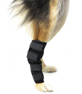 Kvvdi 1 Pair Pet Dog Hind Leg Brace, Rear Leg Joint Wrap Protects Wounds, Sprains, Helps Arthritis