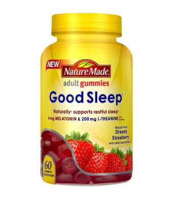 Nature Made Good Sleep Gummy: 4 mg Melatonin and 200 mg L-Theanine 60 Ct